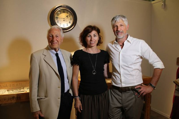 Pitti Filati, Antonio, Teresa e Francesco Lucchesi, di Industria Italiana Filati (Marco Mori/New Press Photo)