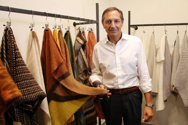 Pitti Filati: Stefano Milanesi, New Mill. (Mori/New Press Photo)