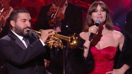 Il trombettista Ibrahim Maalouf e Monica Bellucci