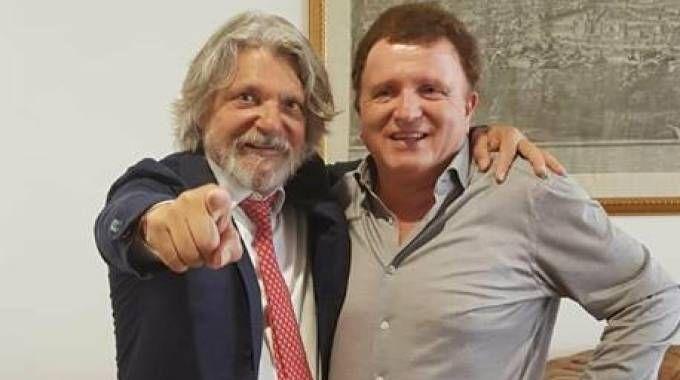 Nella foto Massimo Ferrero e Marco Ferri