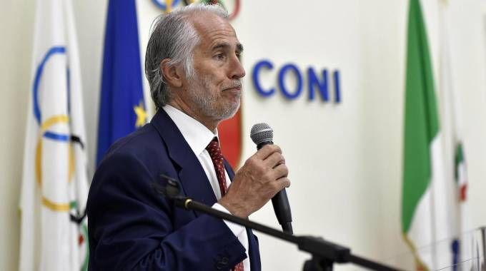 Il presidente del Coni Giovanni Malagò (Ansa)