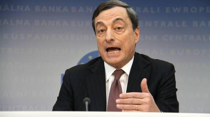 Il presidente della Bce Mario Draghi (Alive)