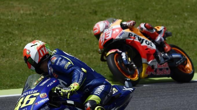Marquez e Rossi, primo e secondo del Mondiale MotoGP