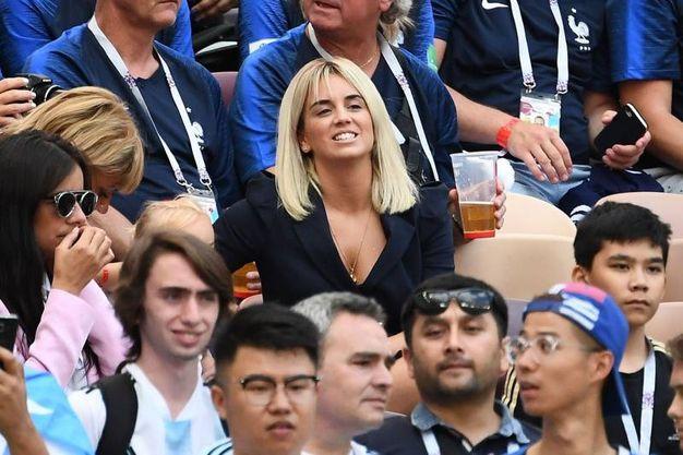 Erika Choperena, moglie dell'attaccante francese Antoine Griezmann (LaPresse)