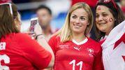 La sciatrice svizzera Lara Gut, fidanzata di Valon Behrami (Ansa)