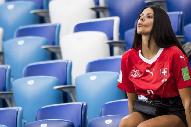 Amina, fidanzata dello svizzero Haris Seferovic (Ansa)