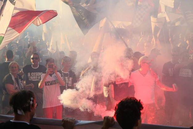 Il grido disperato dei supporters (foto Ravaglia)