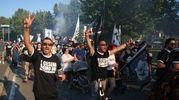 La protesta del popolo bianconero (foto Ravaglia)