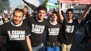 I tifosi del Cesena in corteo (foto Ravaglia)