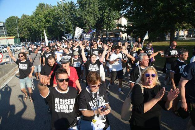 Il grido disperato dei supporter (foto Ravaglia)