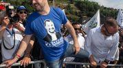 Pontida 2018, l'arrivo di Matteo Salvini