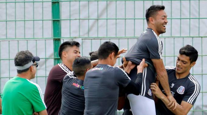 Mondiali 2018, l'allenamento del Messico