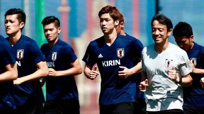Mondiali 2018, il Giappone in allenamento (Lapresse)