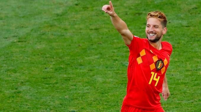 Mondiali 2018, l'attaccante del Belgio Dries Martens (Lapresse)