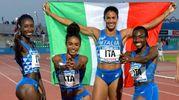 Raphaela Boaheng Luduko, Maria Benedicta Chigbolu, Libania Grenot, Ayomide Folorunso (foto Ferraro/Coni)