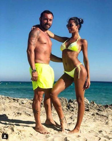 Federica Nargi con l'allenatore Cristian Brocchi (Instagram)