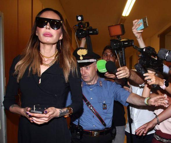 Nina Moric in Tribunale (Lapresse)