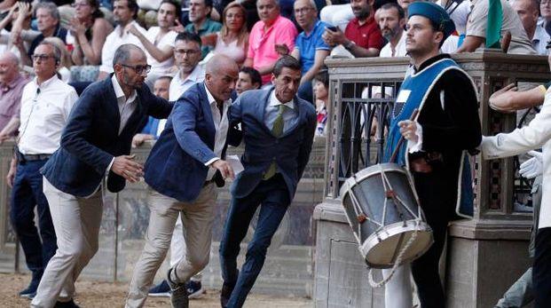 Fabio Magni subito dopo la mossa (foto Paolo Lazzeroni)