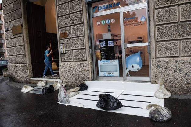 La situazione in piazzale Istria (Lapresse)