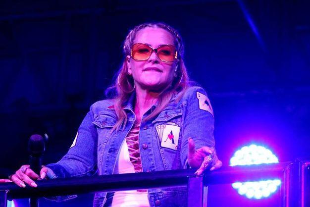 La cantante in scena (foto Ravaglia)