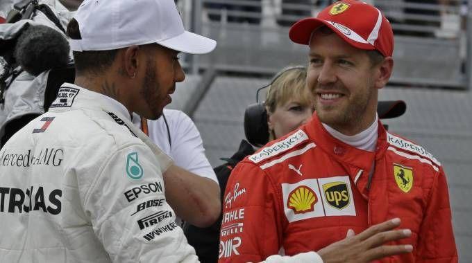 Lewis Hamilton e Sebastian Vettel (Ansa)