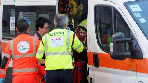 Ambulanza in azione (Brianza)
