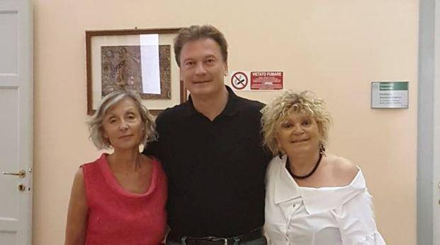 Il dg dell'Ausl Andrea Rossi con Rina Sperindio e Nadia Nanni