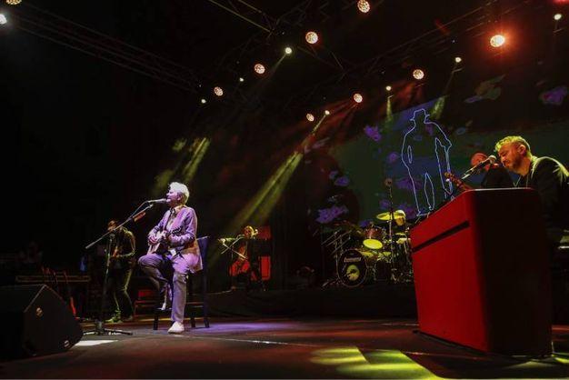 Sul palco con la band