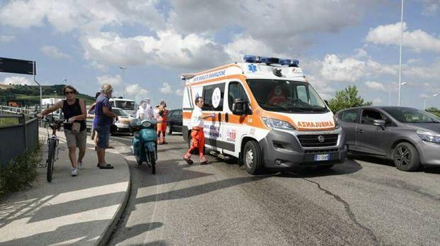 L'incidente a Porto San Giorgio
