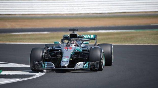 Lewis Hamilton durante il Gran Premio di Gran Bretagna (LaPresse)