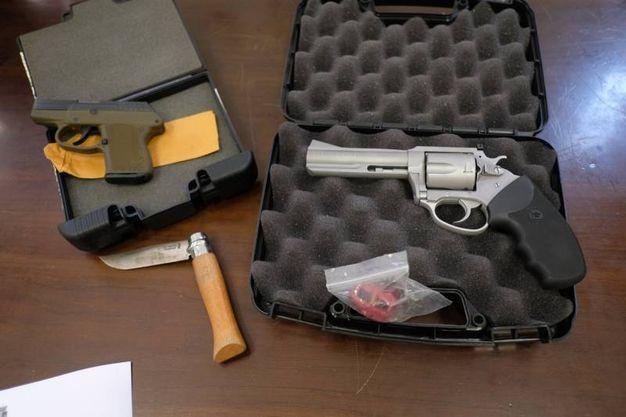 Armi rubate  (foto Frasca)
