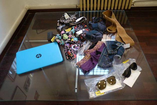 Gli oggetti rubati  (foto Frasca)