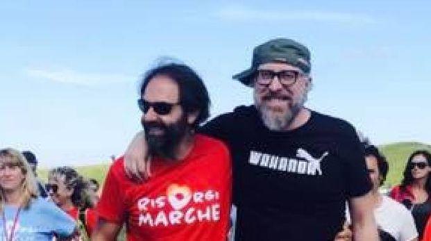 RisorgiMarche 2018, Mario Biondi a Pizzo Meta (foto ufficio stampa RisorgiMarche)
