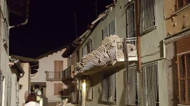 L'abitazione che ha subìto il cedimento