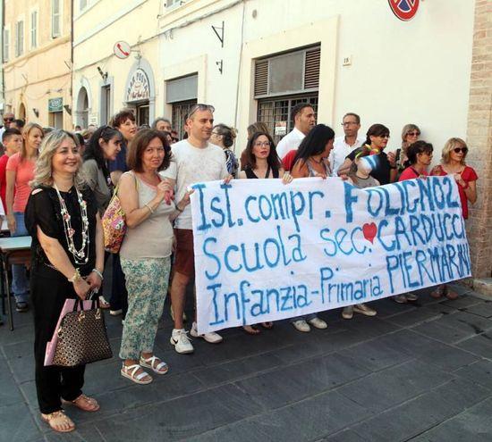 La protesta a Foligno (foto Stefano Preziotti)