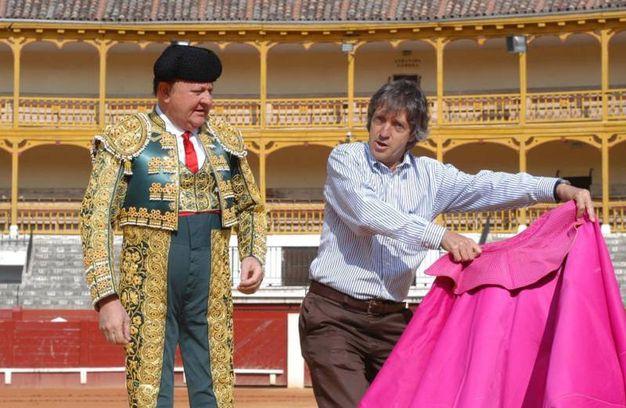 Massimo Boldi e Carlo Vanzina durante le riprese di 'Olè' nel 2006 (Liverani)