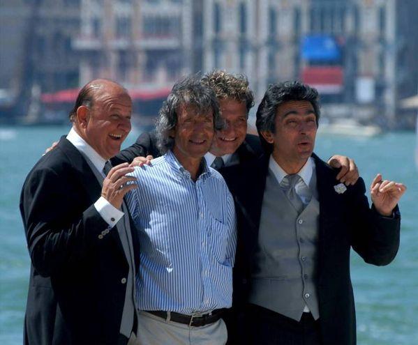 Massimo Boldi, Carlo Vanzina, Enzo Salvi e Vincenzo Salemme  (Ansa)