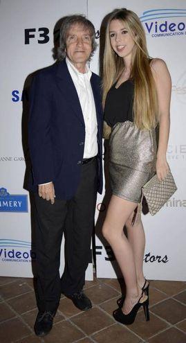 Con la figlia Isotta nel 2015 (Ansa)