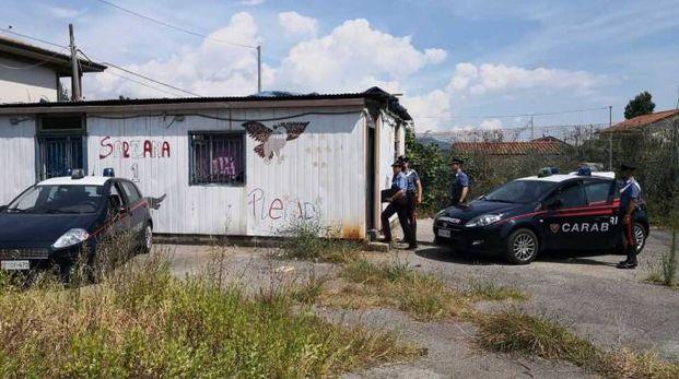 Il blitz di ieri mattina dei carabinieri in località San Venanzio
