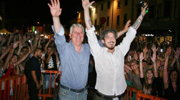 Paolo Ruffini con il sindaco Rinaldo Vanni