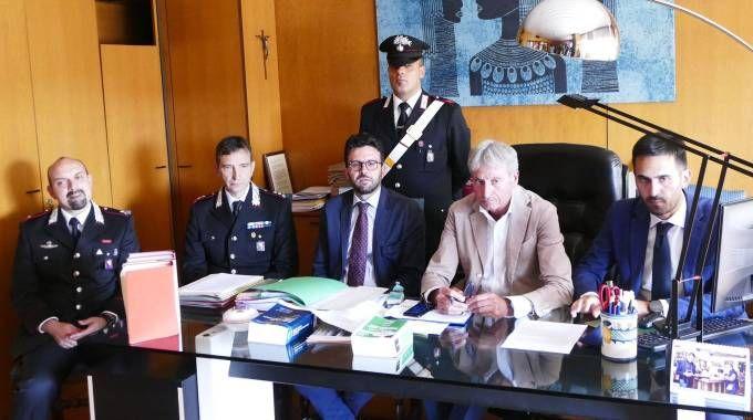 Il procuratore Nicolosi, i sostituti Gestri e Boscagli, il colonnello Grandini
