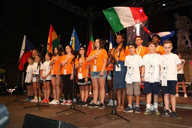 La delegazione italiana (Foto Artioli)