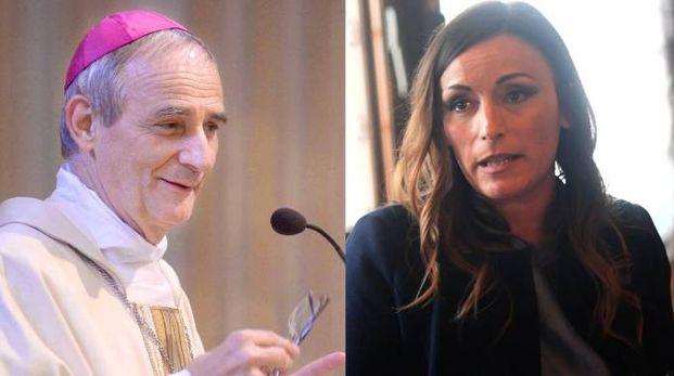 Monsignor Matteo Maria Zuppi e Lucia Borgonzoni
