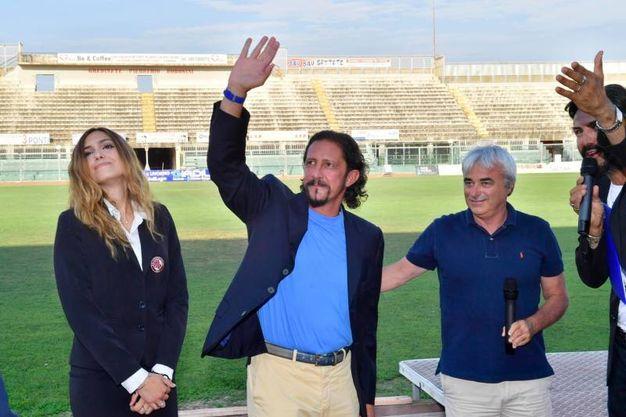 La presentazione di Lucarelli (Foto Novi)