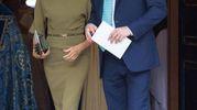 Harry e Meghan, in verde oliva (Ansa)