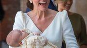 Una buffa espressione di mamma Kate dopo la cerimonia (Lapresse)