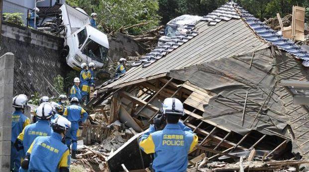 Alluvioni in Giappone (Ansa)