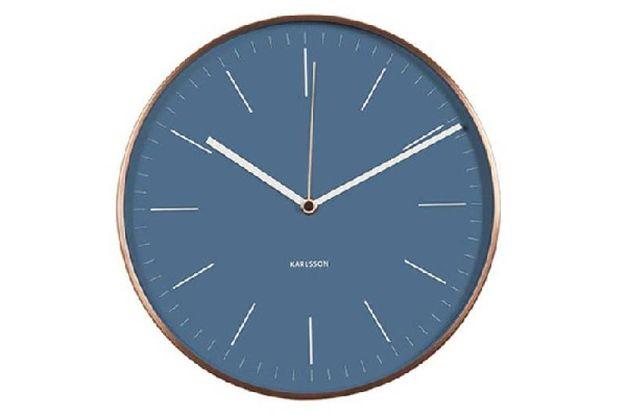 orologio da parete blu