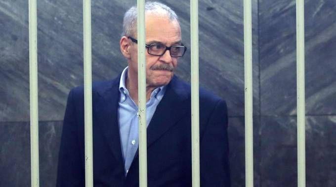 Renato Vallanzasca in tribunale a Milano  (Ansa)