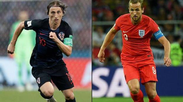 Luka Modric e Harry Kane